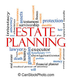 Estate Planning Word Cloud Concept with great terms such as...