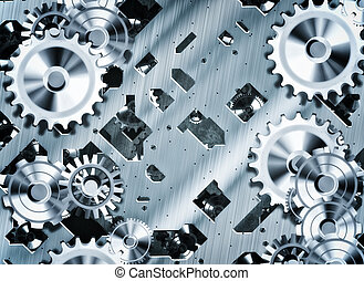 steampunk cogs and gears