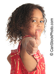 afro american beautiful girl with black curly hair isolated...