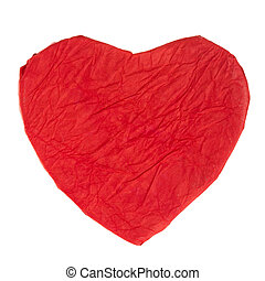 Red paper heart