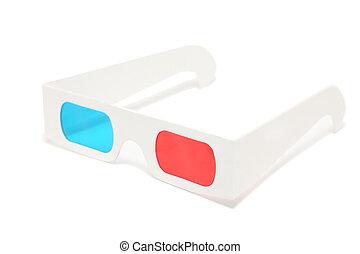 3D-glasses on white background