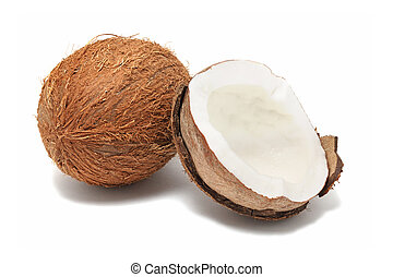 Coconut (isolated) - Coconut isolated on white background...