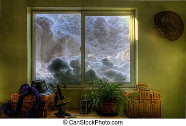 Too much snow! - Snow covering the windows as seen from the...