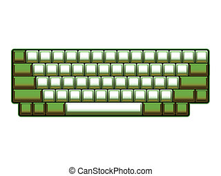 blank computer keyboard layout - realistic illustration