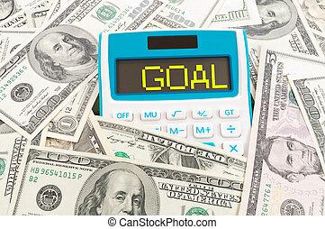 Financial goal concept