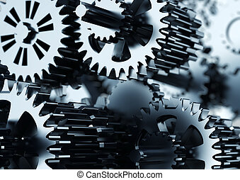 Mechanical Gear Cooperation - Conceptual image about how...