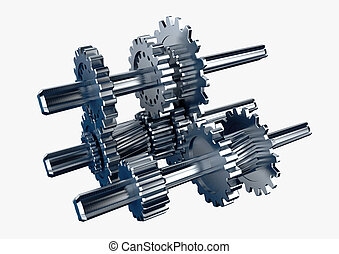 3d rendered illustration of a piece of mechanical rotary...