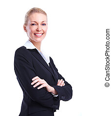Accountant business woman Isolated over white background