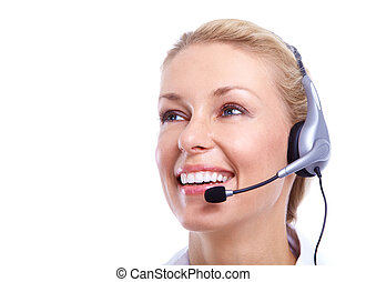 Call center secretary woman - Call center secretary woman...