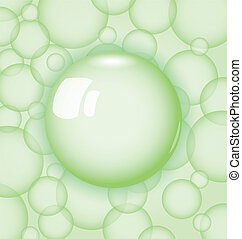 transparency ball with soap bubble - Illustration...