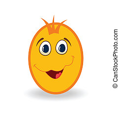 easter egg character isolated on white background -...