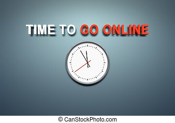Time to go online at the wall - A wall with the words time...
