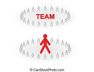 team and leader business concepts
