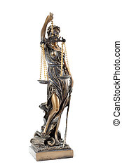Themis - a statue of Themis on a white background