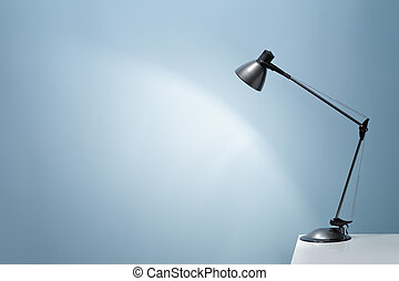 Desk Lamp - An office desk lamp illuminating the background...