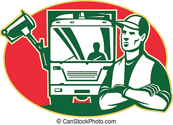 Garbage Collector and Side Loader Rubbish Truck -...