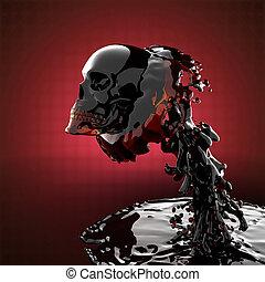cráneo, líquido