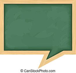 Blackboard shaped as speech bubble, vector eps10...