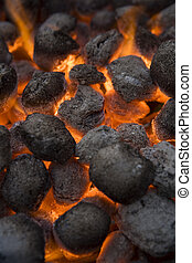 Barbecue Coal - Full Frame of Barbecue Coal