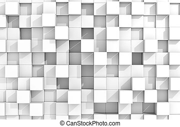 White cubes background.