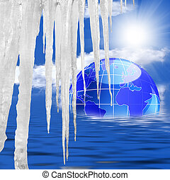 Global warming - Sudden thawing of glaciers will lead to...