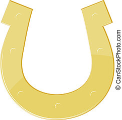 Vector illustration of a golden horseshoe