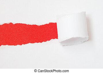 被撕, 紙