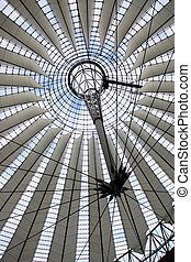Futuristic roof at Sony Center, Berlin - Futuristic roof at...