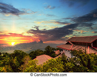 Viewpoint at the Langkawi island. Malaysia - Sunset from the...