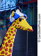 Camelopardalis statue made from lego blocks - Camelopardalis...
