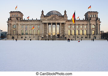 Reichstag at the winter, Berlin - Reichstag at the winter -...