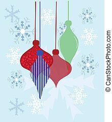 christmas balls composition