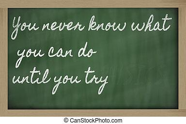 expresión, -, usted, Nunca, saber, qué, usted,...