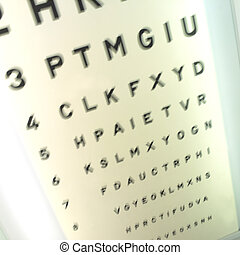 Opticians Letters - Letters on the wall at the opticians...