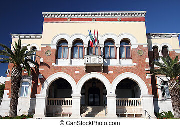 Croatia - Porec on Istria peninsula. Town Hall building.
