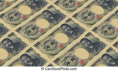 1000 japan yen,Printing Money Animation