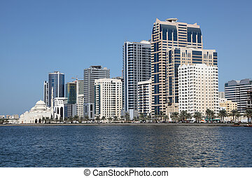 Sharjah City skyline, United Arab Emirates