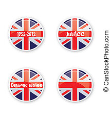 Jubilee Buttons - A set of four round or circular jubilee...