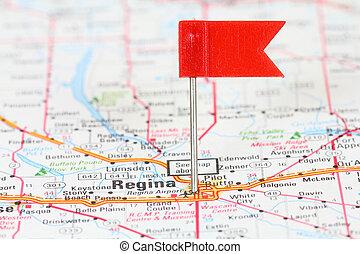 Regina, Saskatchewan - Regina in Saskatchewan, Canada. Red...