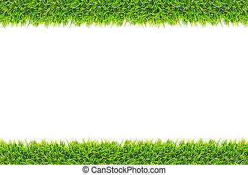 Grass frame isolated