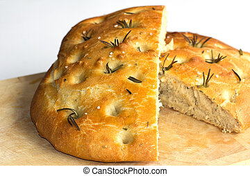 A loaf of Foccacia Bread - A loaf of freshly baked Foccacia...