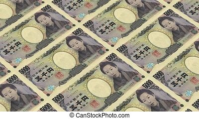 5000 japanese yen,Printing Money Animation