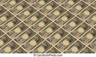 10000 japanese yen,Printing Money Animation
