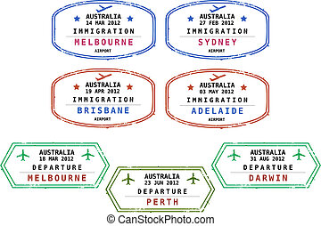 Immigration stamps - Australia - Travel stamps from...