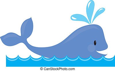 Whale - A simple design of a whale spouting, while swimming...