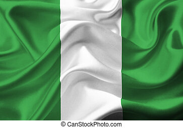 Nigeria waving flag