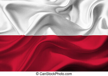 Poland waving flag