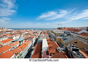 Red roofs of Lisbon