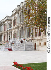 Part of exterior of Ciragan palace hotel Bosphorus Istanbul...