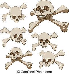 Five skulls set